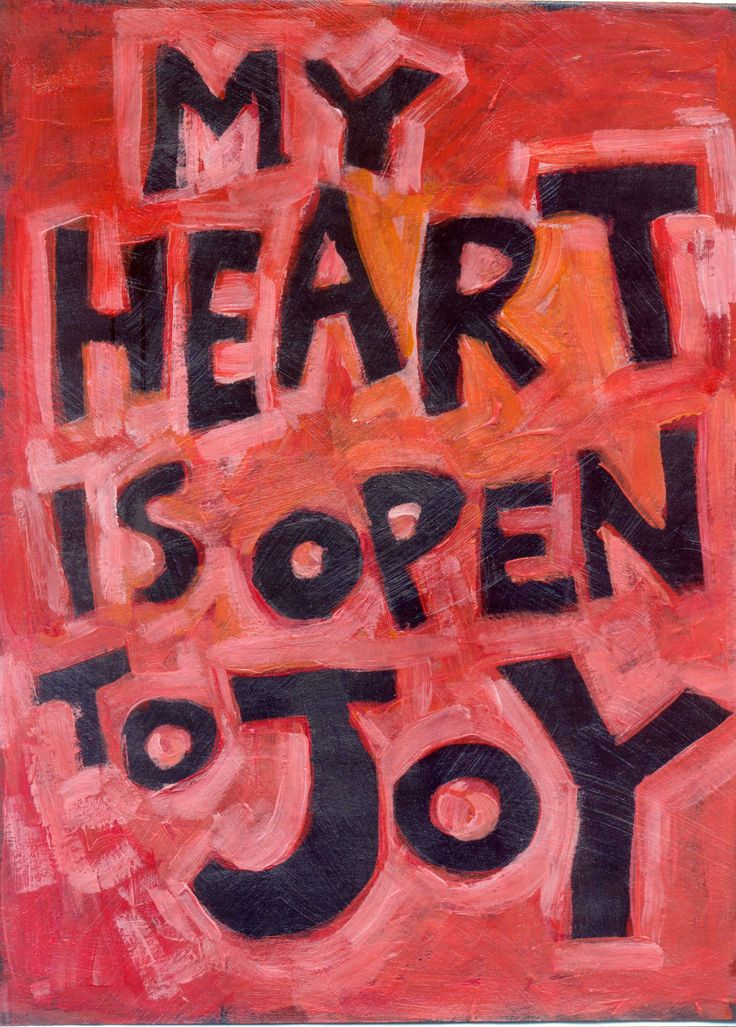 My Heart is Open to JoY - Blessings, abundance and Gratitude Poster