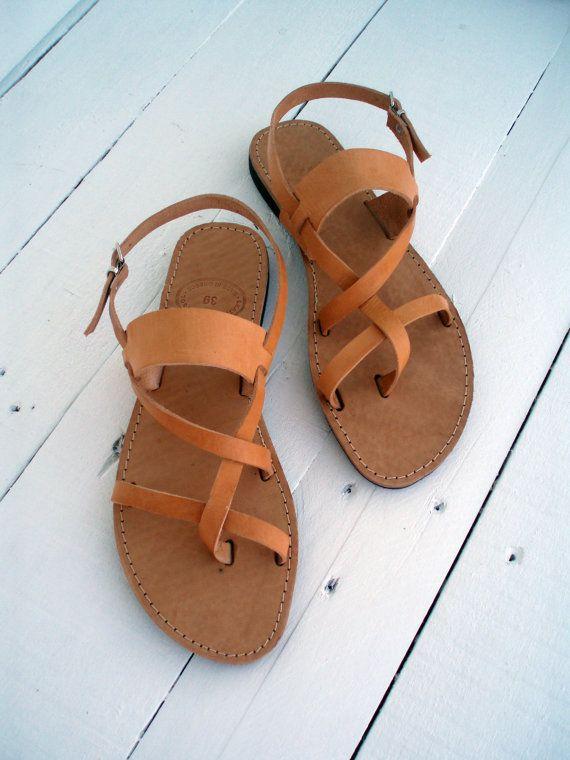 Handgefertigte Leder Sandale Fur Damen Und Herren Naturliche Farbe Sie Wurden Aus Rindsleder Frauen Sandalen Herren Leder Sandalen Handgefertigtes Aus Leder