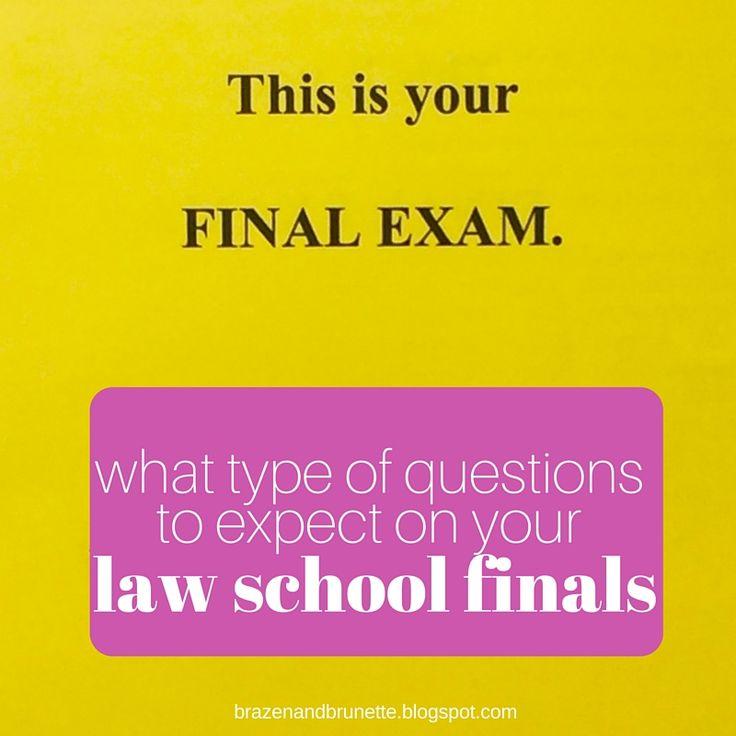 Law School Finals Question Types