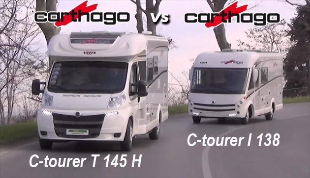 Carthago C-tourer I 138 e Carthago C-tourer T 145 H a confronto - il VideoCamperOnTest su www.camperonline.com