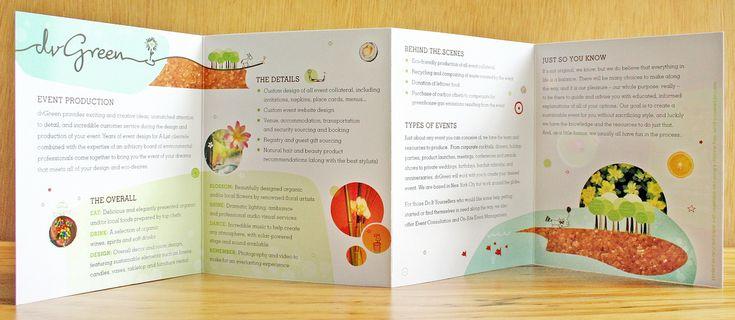 k.james, aka Kent Henderson, gatefold brochure design for dvGreen | Brochure/Booklet