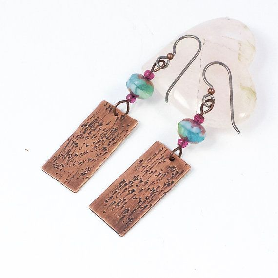 Hey, I found this really awesome Etsy listing at https://www.etsy.com/il-en/listing/257274206/textured-copper-blue-earrings-copper