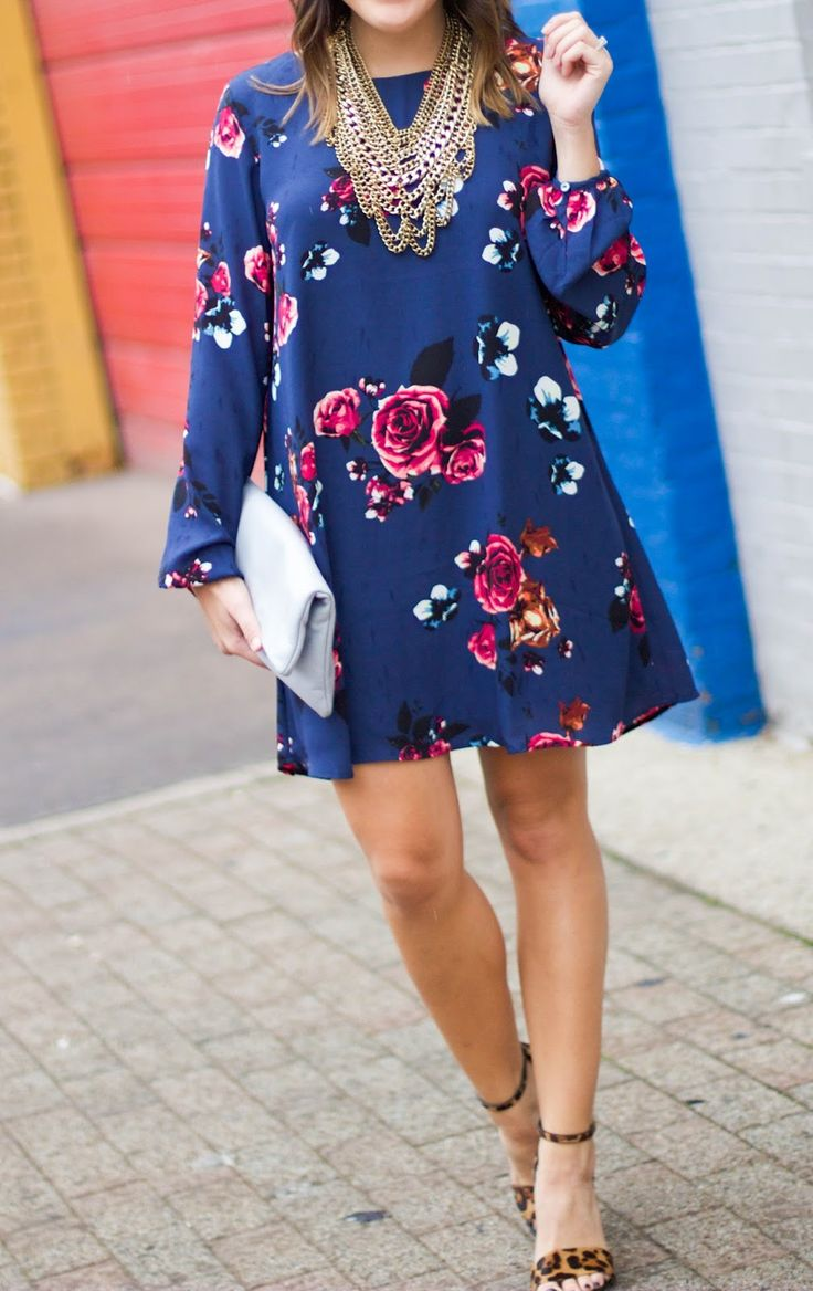 what to wear to a fall wedding: a fall floral dress