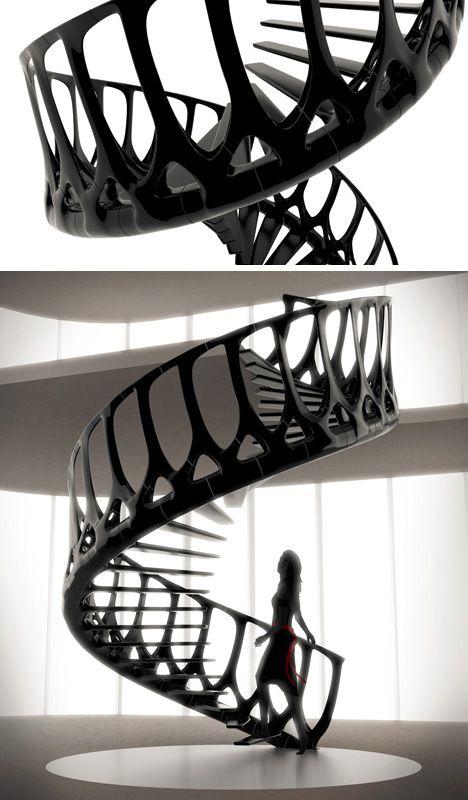 escalier vertèbre