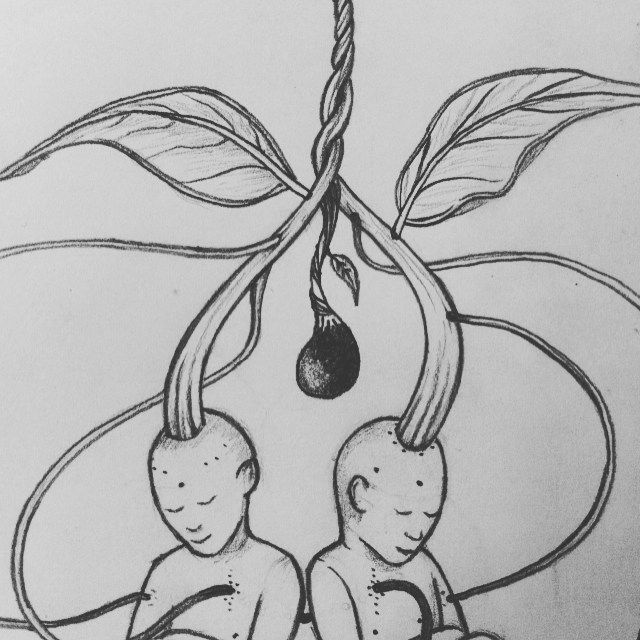 gemelos #ilustración #Lia
