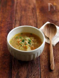 たっぷり野菜のカレースープ。