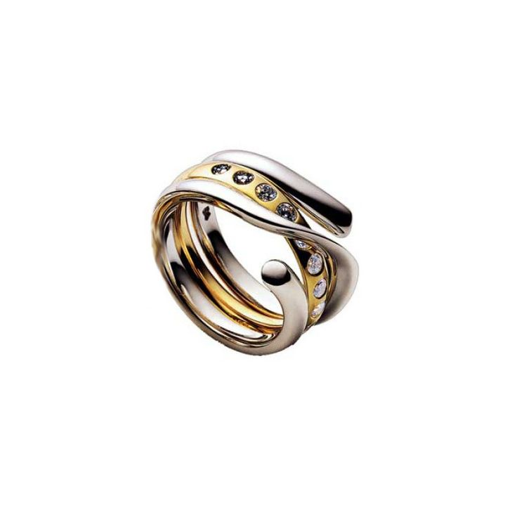 MAGIC RING - 18CT GOLD/0.45CT DIAMONDS - GEORG JENSEN - SAVE £565! Regular Price: £3,750.00 Special Price: £3,185.00