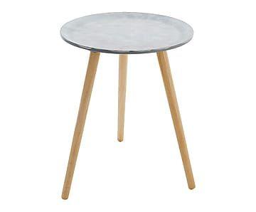 Table d'appoint, gris et naturel - Ø40