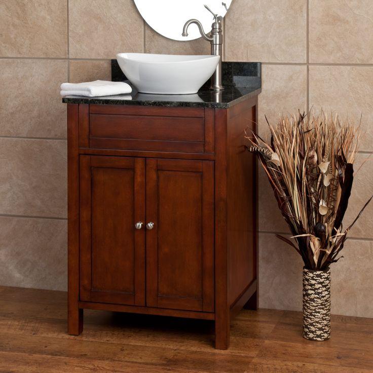 24 darin vessel sink vanity powder room ideas pinterest for Vessel sink vanity ideas