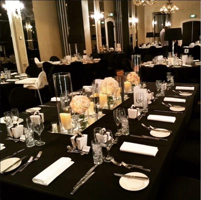 garden party wedding venues melbourne%0A Beautiful Black Linen Wedding  Royce Hotel Melbourne Weddings Venue