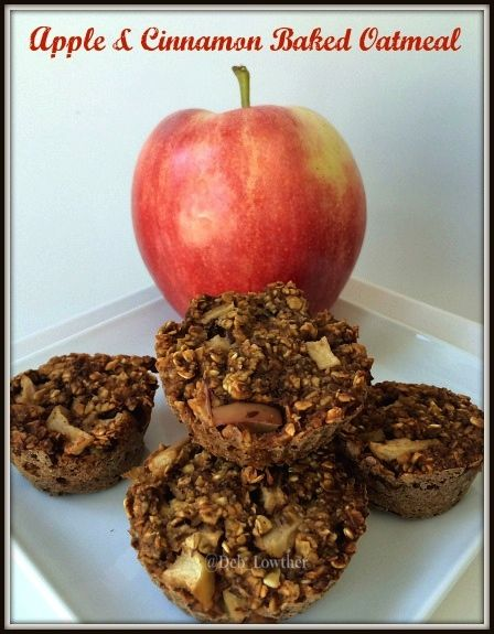 Apple & Cinnamon Baked Oatmeal - it tastes like a bowl of warm oatmeal in a grab and go muffin!