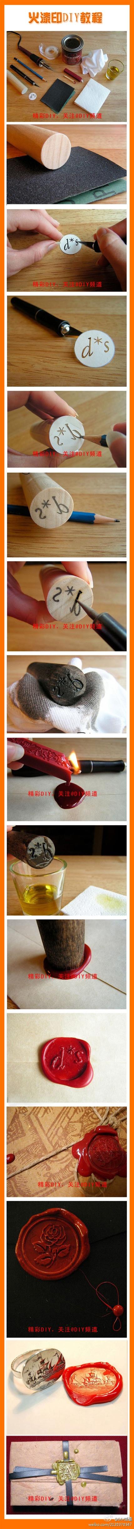 DIY wax stamper: Seals Wax, Diy Crafts, Envelope, Wax Seals Stamps, Wedding Invitations, Homemade Wax, Cool Ideas, Wax Stamps, Diy Wax
