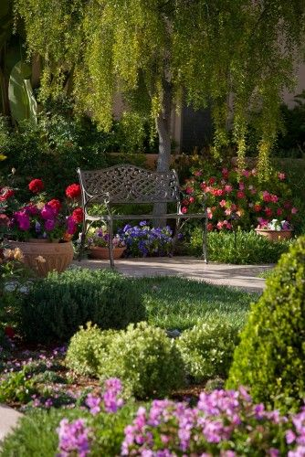 "Traditional landscape by Margie Grace - Grace Design  ""Surrounded by Roses"" (1) From; Houzz, please visit"