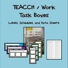 Included are the materials I used to set up my work task station in my classroom.  Student schedules: both vertical and horizontal options included...