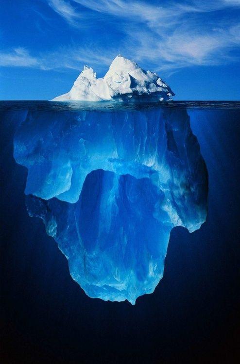 glacially blue.