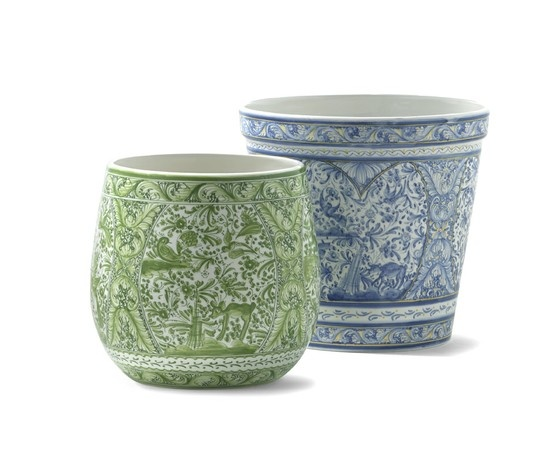 These hand-painted flower pots from Portugal are a must!