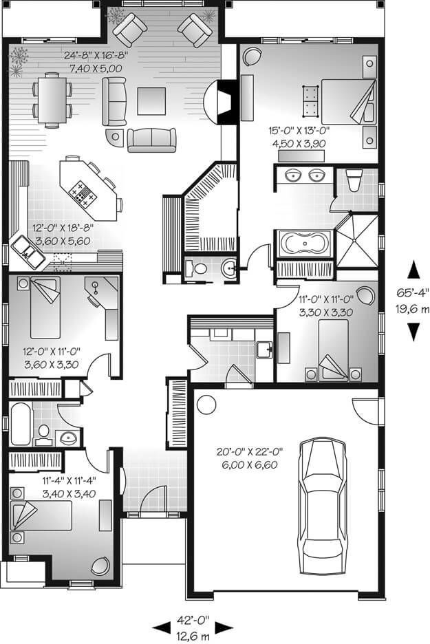 Top 40 Unique Floor Plan Ideas For Different Areas Engineering Discoveries Luxury House Plans House Plans Bungalow Floor Plans