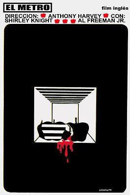 Cuban movie Poster 4 British film The Subway.El METRO.Anthony Harvey.Apple art