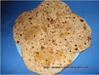 Puran Poli (Bobbatulu ) - A special  Sweet dish prepared during the Ugadi and many other festivals and auspicious occasions.
