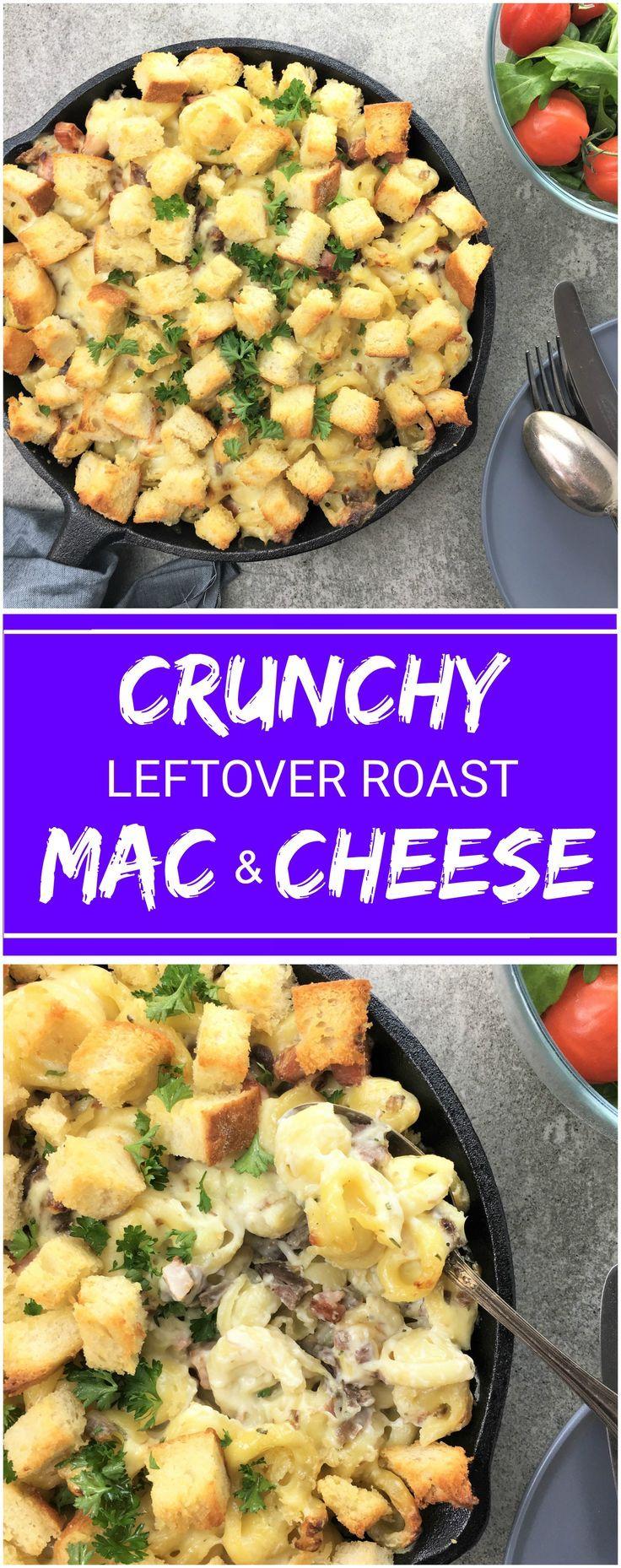 Mac & Cheese using leftover roast lamb | mac n cheese | leftovers | crunchy