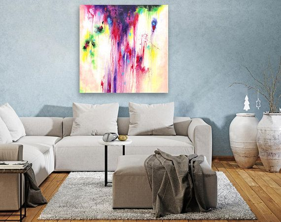 Contemporary Wall Art On Canvas,Extra Large Abstract Painting