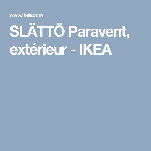 Sl tt paravent ext rieur noir teint brun meilleures id es paravent ext - Paravent exterieur ikea ...