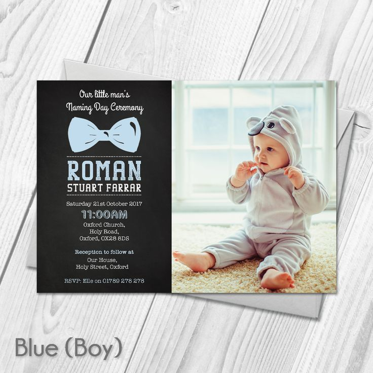 Personalised Photo Christening Baptism Invitations Naming