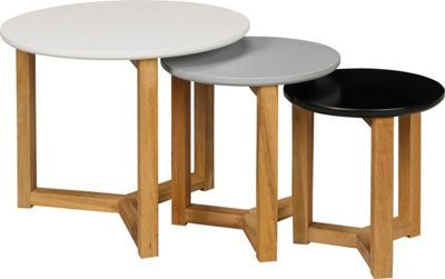 Round Coloured Nest of Tables - Multicoloured.