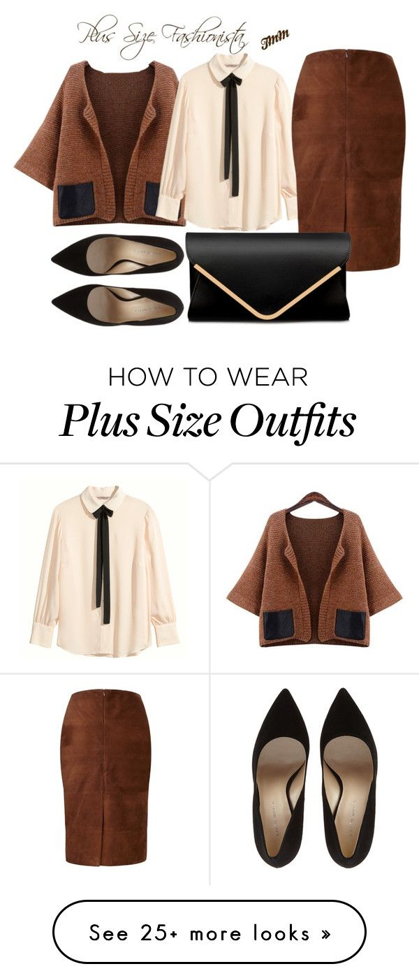 """Plus Size Fashionista"" by theblushingbeauty on Polyvore featuring H&M and Viyella"