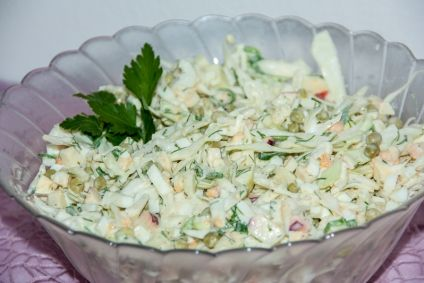 Salat aus Kohl mit Apfel