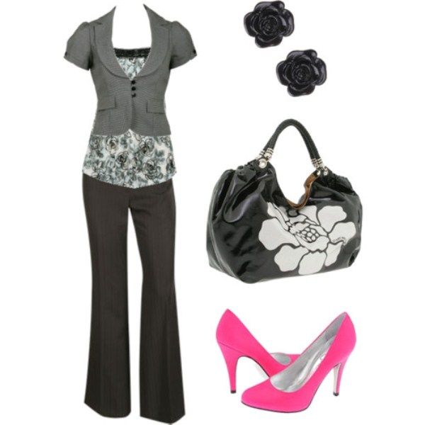 Business Casual Women Outfit; love everything but the heels; I'd have flats instead