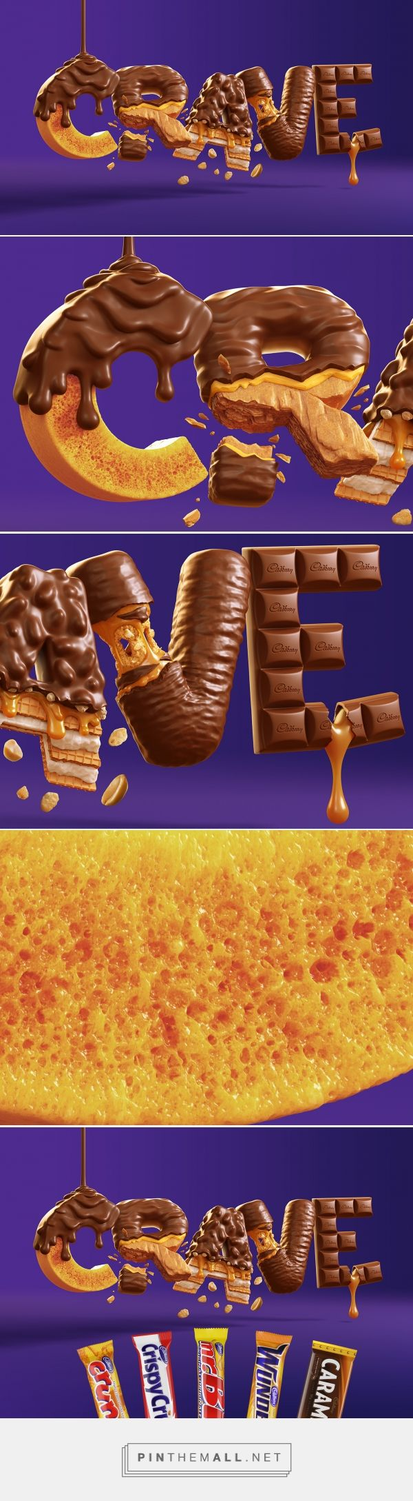 Cadbury CRAVE on Behance - created via https://pinthemall.net