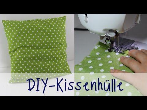 Julia's tillishop DIY's: Kissenhülle nähen ohne Reißverschluss (schnell & einfach) - YouTube