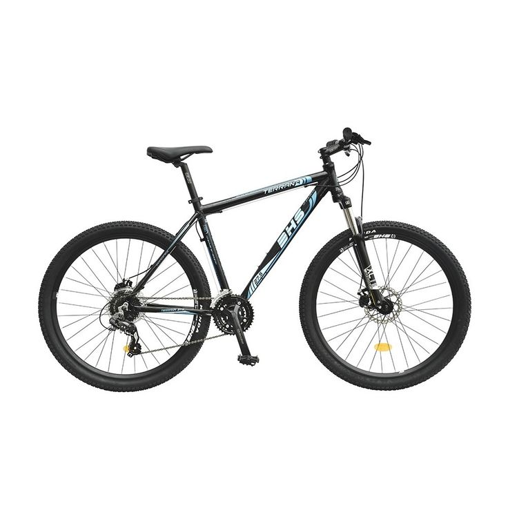Bicicleta Mountain Bike Hardtail DHS Terrana 2725 - model 2015 27'' Negru/Albastru , Barbati - eMAG.ro