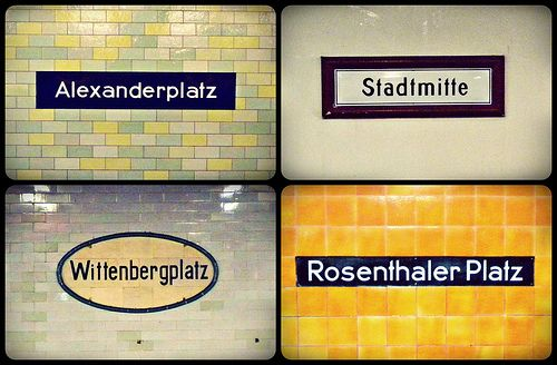 Deutschland, Berlin.  Berlin U-Bahn stations n. 2.   (Photo by Patty K - pkostar. All Rights Reserved. Flickr: http://flickr.com/photos/pkostar/).