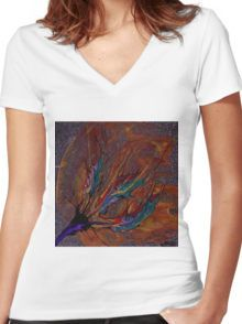 Beyond Who's Eyes Women's Fitted V-Neck T-Shirt