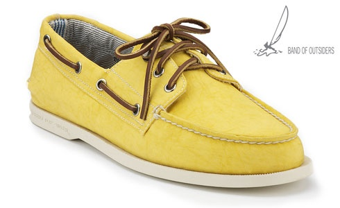 Men's 3 Eye Boat Shoe by Band of Outsiders (Yellow)