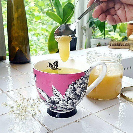 MUMS! Har du fläderblommor kvar så läs gärna om vårt recept på fläderblomste under artiklar på hemsidan. Enklare än enklast och supergott! Tips! Frys in fläderblommen så du kan njuta av en mysig kopp till hösten.