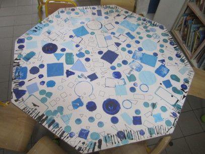 Nappes de tables . à réaliser avec les élèves. puis recouvrir avec toile cirée transparente. La classe de Marion - Ressources pour le cycle 1 : petits, moyens, grands