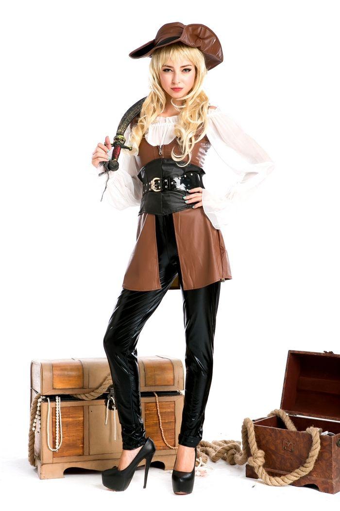 c65b6ea8bfb Tallas grandes Mujeres Sexy Trajes de Fiesta Cosplay Deluxe Traje de Pirata  Adulto Cosplay Halloween Fantasias