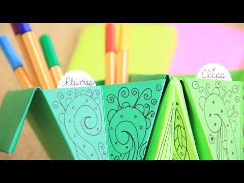 Accordion box: fácil organizador de origami acordeón | Craftingeek - YouTube