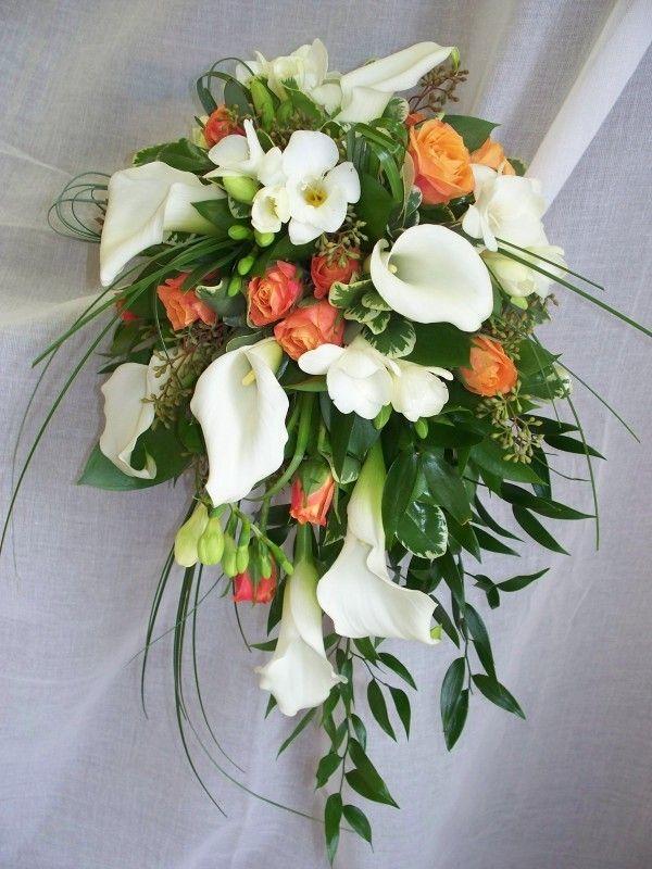 Bouquet de mariage, mariage, fleurs naturelles, fleurs, calla et corail, Le jardin d'Andrée-Anne, www.lejardin.ca