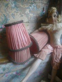 3 antieke franse lampekapjes