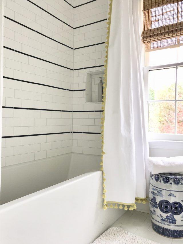 Kids' Bathroom Renovation: Subway Tile + Chrome