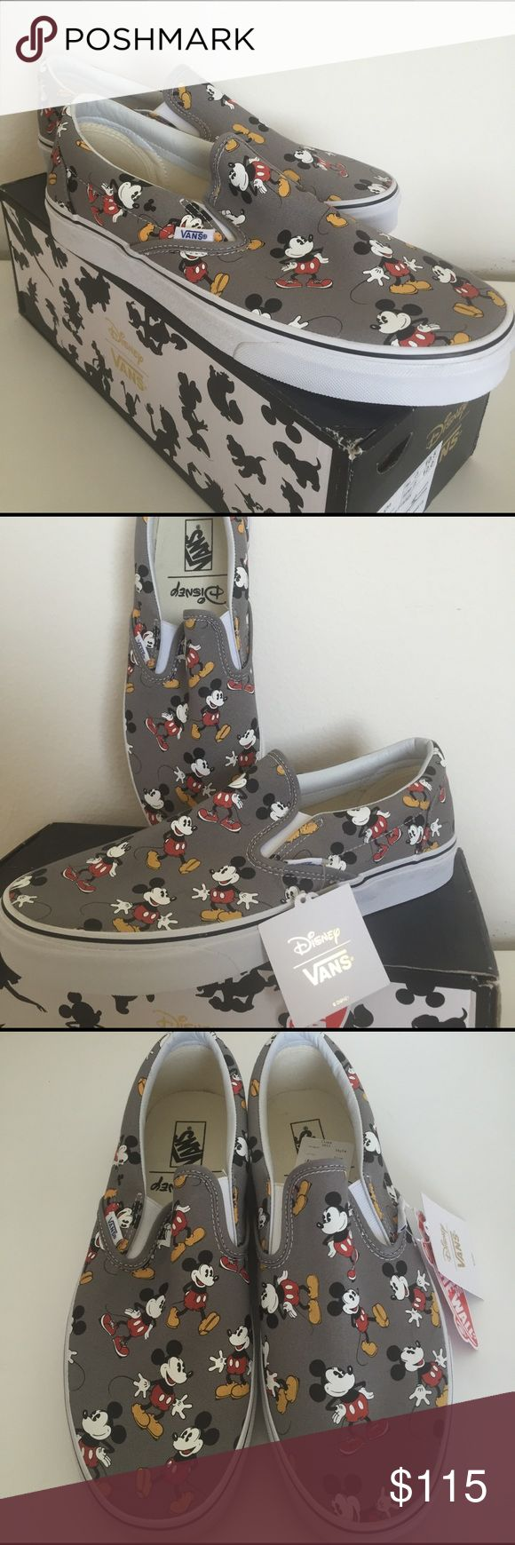Disney Mickey Mouse Slip-on Vans Disney Original Mickey Mouse slip on vans. CLASSIC!  Men's Size 10.5 Vans Shoes Sneakers