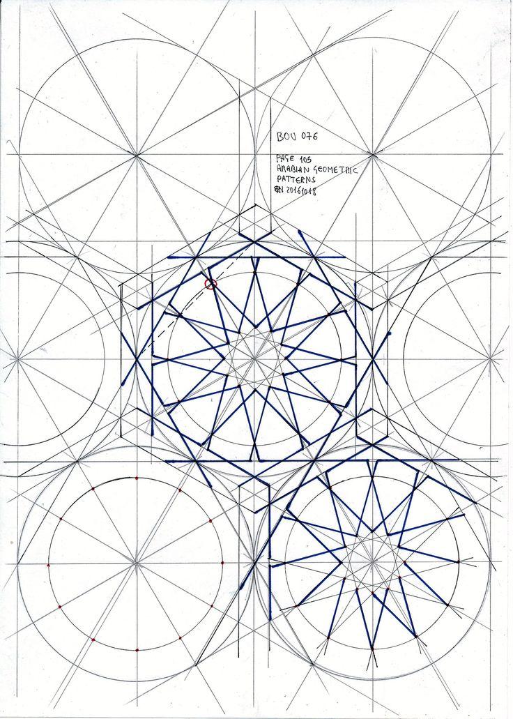 Bou76 #islamicdesign #islamicgeometry #islamicart #arabiangeometry #geometry #symmetry #pattern #handmade #Escher #star #regolo54 #mathart