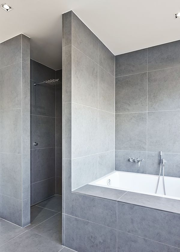 Concrete and white - maybe towels for a flash of colour? Modern Functionalism | Thue Krog Andersen Architects