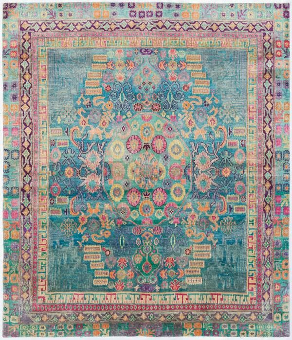 "Silk Ethos 5'0""x6'3"": Ethos oriental rugs runner rugs outdoor rugs bath rugs antiques rugs kitchen rugs bathroom rugs round rugs modern rugs carpets NYC - ABC Carpet & Home - this is too beautiful for words."
