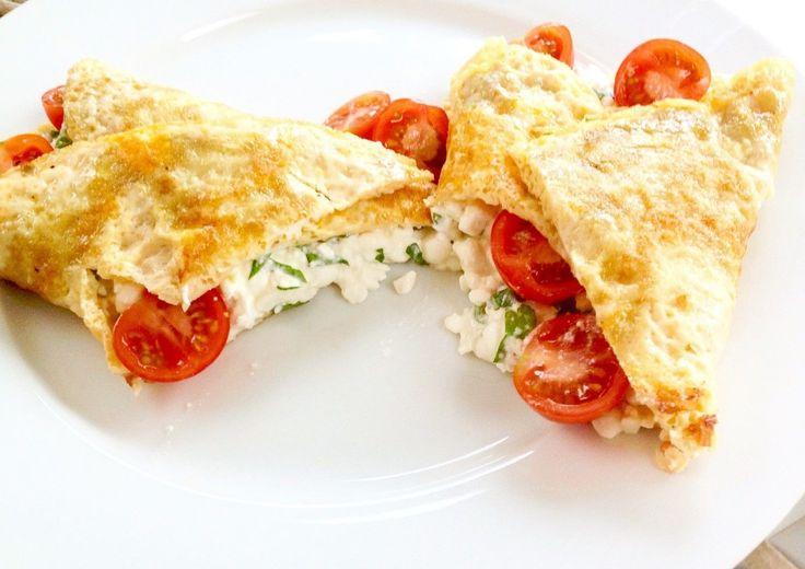 Hüttenkäse omelet