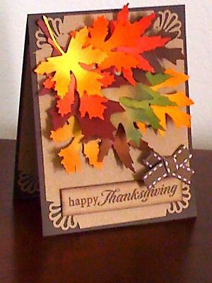 Handmade by Jlena Greeting Card Making Kit Autumn Leaves Thanksgiving Any Occasi | eBay